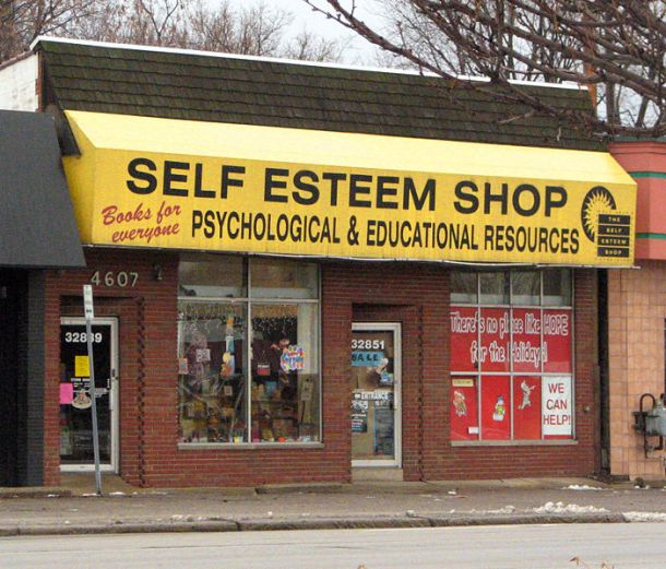 Self-Esteem Shop photographed by Dave Hogg, Royal Oak, Michigan, 2005.