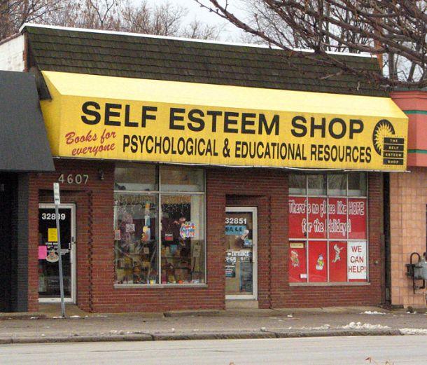 Self-Esteem Shop photographed by Dave Hogg, Royal Oak, Michigan, 2005.